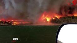 لحظه آتش سوزی در کالیفرنیا + آخرین تصویر