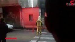 آتشسوزی مدرسه استثنایی در شرق تهران +فیلم