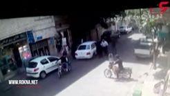 مراقب تصادف های ساختگی دزدان باشید + فیلم