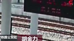 لحظه ناکام ماندن مسافر قطار برای خودکشی+فیلم