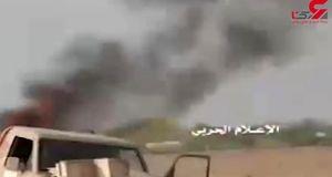 فیلم حمله پهپادهای یمنی به مقر فرماندهی متجاوزان اماراتی