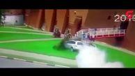 رانندهای که با قاطی کردن پدال گاز و ترمز حادثه آفرید + فیلم