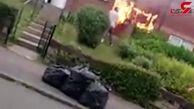 اقدام عجیب 2 همسایه هنگام آتش گرفتن خانه! +فیلم