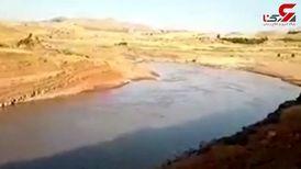 اقدام خطرناک جوان ایرانی در رود خانه سیمره + فیلم