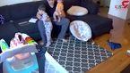 روش دردناک پسربچه برای ساکت کردن گریه های برادر کوچکترش + فیلم