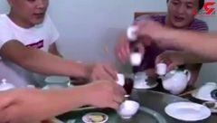 زشت ترین غذا / پخت غذا با مارهای جنگلی! +تصویر