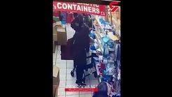 عمل غیراخلاقی زن جوان با زن سالخورده در فروشگاه ! +فیلم