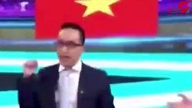وضعیت جالب استودیوی شبکه ویتنام پس از پیروزی مقابل اردن + فیلم