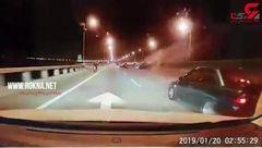 کوروس 2 خودروی لاکچری در اتوبان فاجعه به بار آورد+ فیلم