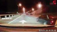 کورس 2 خودروی لاکچری در اتوبان فاجعه به بار آورد+ فیلم