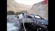 خودروی فوق لاکچری یک ایرانی به صورت خود به خود آتش گرفت+ فیلم