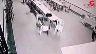 لحظه حمله روح به یک زن خارجی در هتل+فیلم