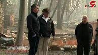 سرکشی ترامپ از مناطق سوخته کالیفرنیا+فیلم
