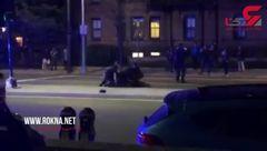 فیلم/ کتک زدن دانشجویی که بدون لباس به خیابان آمده بود