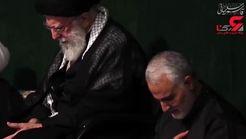 فیلم لحظه سلام رهبر انقلاب و سردار سلیمانی بر امام حسین(ع)