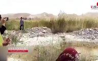 دیدار کشتی گیران با حوا کوچولوی قربانی حمله گاندو + فیلم