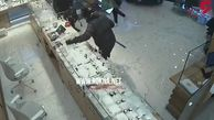 فیلم لحظه سرقت وحشیانه  از جواهرفروشی+ فیلم / لندن