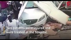 ورود یک خودرو به داخل مرکز درمانی فاجعه آفرید!+فیلم
