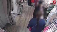 فیلم لحظه سرقت جالب لباس های لوکس توسط یک زن!