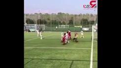 تکنیک دیدنی و تماشایی پسر رونالدو در زمین فوتبال! + فیلم
