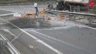 نجات معجزهآسای زن باردار از تصادف وحشتناک و واژگونی خودرو شاسی بلند +فیلم لحظه تصادف