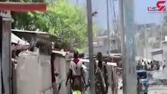 فیلم لحظه درگیری مسلحانه پلیس با گروه تروریستی الشباب + فیلم