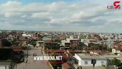 فیلم هوایی از سیل در آق قلا / عمیق فاجعه را ببیند