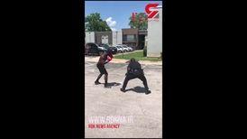 پلیس برنده دوئل خیابانی با یک بوکسور شد + فیلم