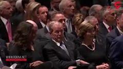 بازتاب آبنبات دادن جرج بوش به میشل اوباما + فیلم