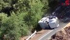 لحظه افتادن کامیون در دره !+ فیلم وحشتناک