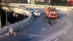 حادثه ای که به خیر گذشت / کامیون از چند سانتی یک پسربچه گذشت + فیلم