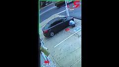 ترکیدن وحشتناک لاستیک خودرو + فیلم