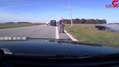 تعقیب و گریز خونین پلیس بادزد ماشین + فیلم