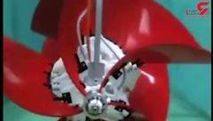 حرکت ربات طراحی شده روی تمامی سطوح+فیلم
