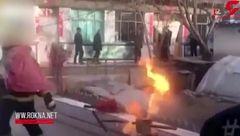 شجاعت تحسین برانگیز آتش نشان در حادثه وحشتناک! +فیلم