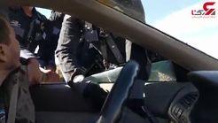کتک خوردن راننده متخلف توسط مامور راهنمایی رانندگی+فیلم
