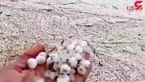 بهراه افتادن رودخانه تگرگی در رامهرمز خوزستان +فیلم
