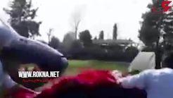 فیلم لحظه نجات زن آبستن که در سیل گلستان گرفتار شده بود + فیلم