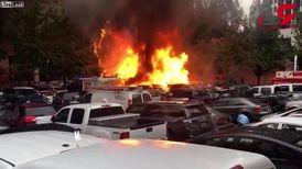 انفجار وحشتناک رستوران سیار در خیابان + فیلم