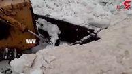ارتفاع ۶ متری برف در گردنه «تته» در دومین ماه بهار+ فیلم