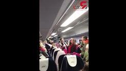 حمله نژادپرستانه مردی به یک زوج در قطار+فیلم