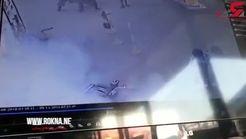 آتش گرفتن عجیب موتورسیکلت در پمپ بنزین + تصویر