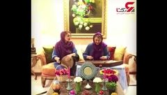 عیدانه فرناز و مهرناز دبیرزاده خواهران دوقلو به مردم ایران + فیلم