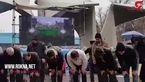 برپایی نماز ظهر پس از برگزاری راهپیمایی ۲۲ بهمن + فیلم