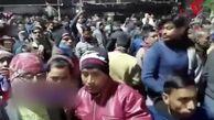 ریزش وحشتناک ایستگاه قطار در هند + فیلم