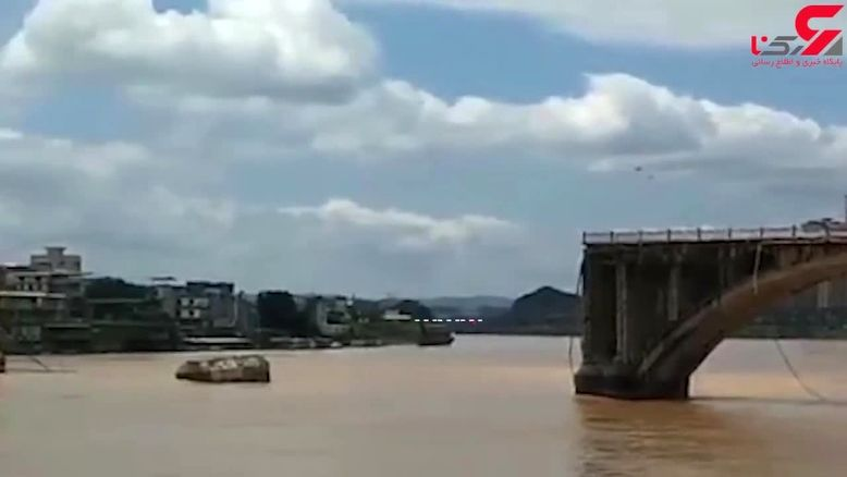 فیلم هولناک ریزش یک پل همراه 2 خودرو