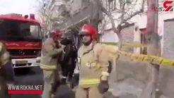 انفجار مغازه چرخ خیاطی در قلب تهران/ خیابان جمهوری بسته شد +فیلم