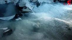 تصاویری دیدنی و زیبا از غاری یخزده+فیلم