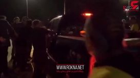 له کردن معترضان با خودرو توسط مامور سنگدل+ فیلم