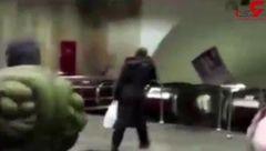 وقتی هالک شگفت انگیز به مترو می رود! +فیلم